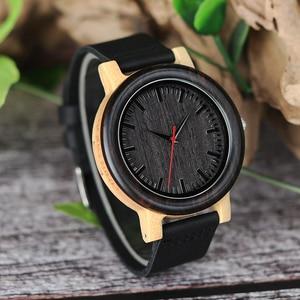 Image 4 - BOBO BIRD M13M14 Wenge Wood Bamboo Watches for Men Simple Design Quartz Wristwatch in Wooden Gift Box