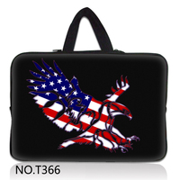USA Eagle 10 12 13 13.3 14.4 15.6 17.3 Handle Laptop Sleeve Bag Notebook Smart Cover Case PC Handbag For Macbook Air/Pro/Retina