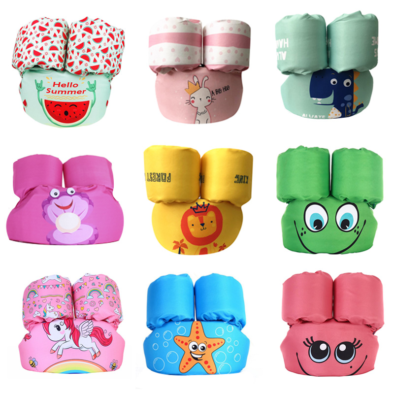 New Puddle Jumper Baby Cartoon Float Tube Arm Life Jacket Sleeves Armlets Swim Ring Life Vest Jackets Swim Foam Pool Toys