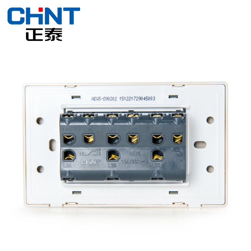 CHINT Electric 118 Type Switch Socket NEW5D Brushed Gold Embedded ...