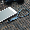 Baseus Fashion Hand Wrist Mobile Phone Straps Fall Proof Anti-slip Leather Wrist Strap Keychain Charm Cords For Cell Phone Cope