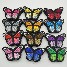 36pcs Iron On Patch Sew Embroidered Trim Standard butterfly fabric stickers for diy sewing craft