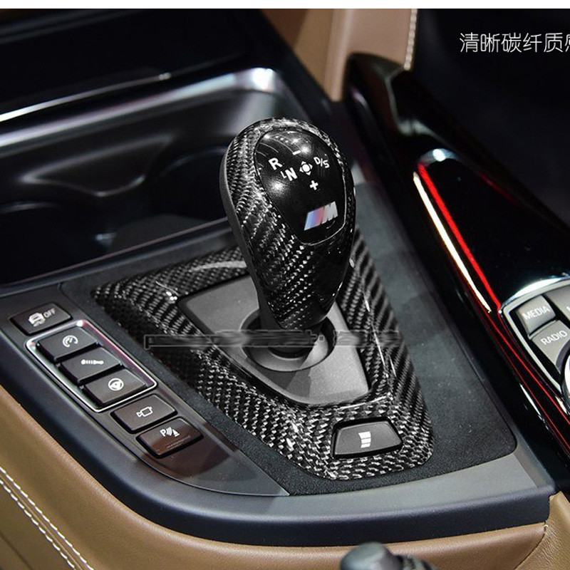 100% pure Carbon fiber Gear Shift Konb Cover For BMW M2 F87 M3 F80 M4 F82 F83 Gear Surround Cover interior trim fit for toyota camry 2018 carbon fiber style interior gear shift knob cover trim interior mouldings interior accessories