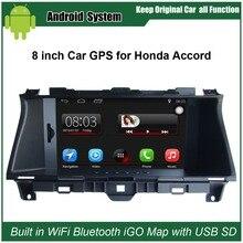 Обновленный оригинальный автомобильный радиоплеер Подходит для Honda Accord (2008-2012) Автомобильный видеоплеер встроенный WiFi gps навигация Bluetooth