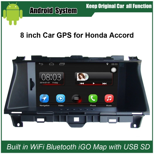 Upgraded Original Car Radio Player Suit to Honda Accord (2008-2012) Car Video Player Built in WiFi GPS Navigation Bluetooth