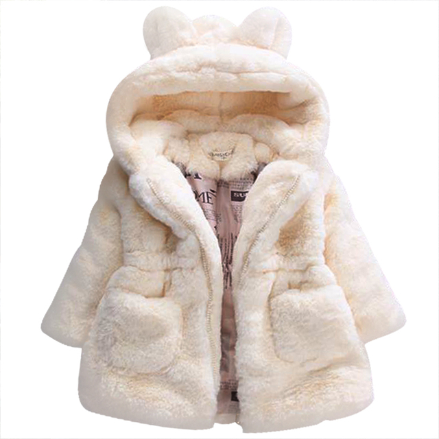 65ec9540e137 2017 Baby Autumn Winter Waistcoat Children s Rabbit ears Fur Girls ...