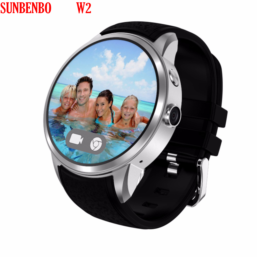 SUNBENBO W2 Smart Watch Infrared Passometer Fitness World Time GPS Tracker Monitor Smartwatch with Camera 1.3 million pixels 8GB buy monitor pc world