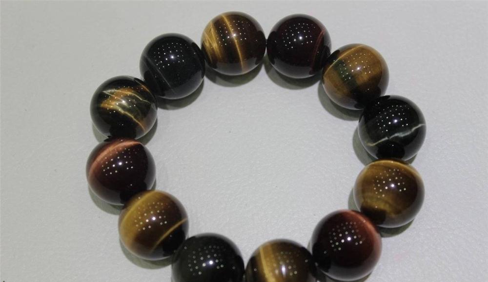 LIVRAISON GRATUITE >>>@@ Haute Qualité bracelet Multi couleurs Oeil de Tigre 18.5mm 22 cm