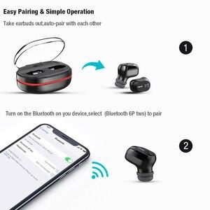 Image 2 - DACOM K6H Pro Bluetooth אוזניות מיקרופון מובנה אמיתי אלחוטי סטריאו אוזניות ב אוזן מיני אוזניות עבור iPhone xiaomi סמסונג