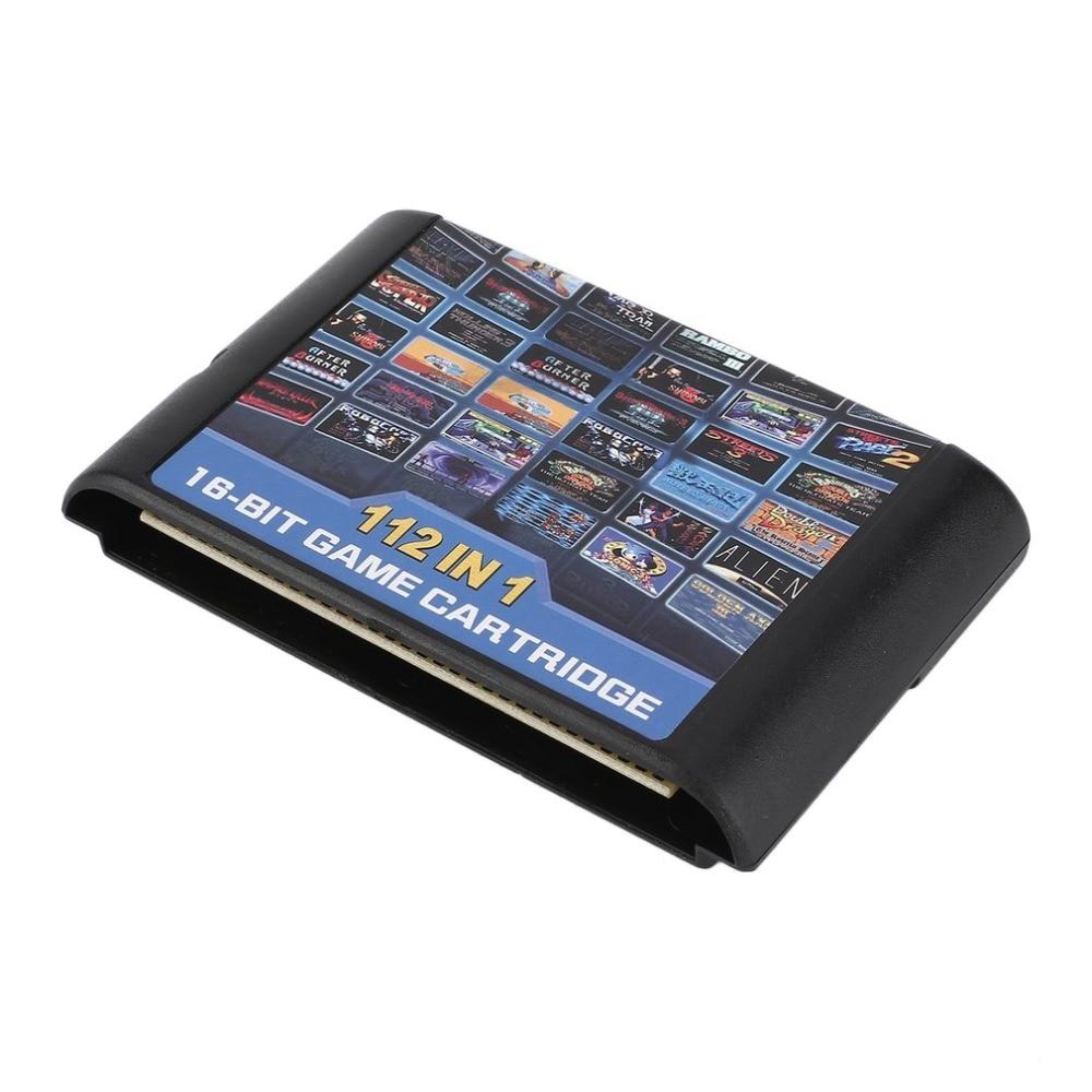 112 in 1 No Repeat 16 bit MD Game Card For Sega Genesis Console For Kids Children Gift Game Player For Sega Mega Drive