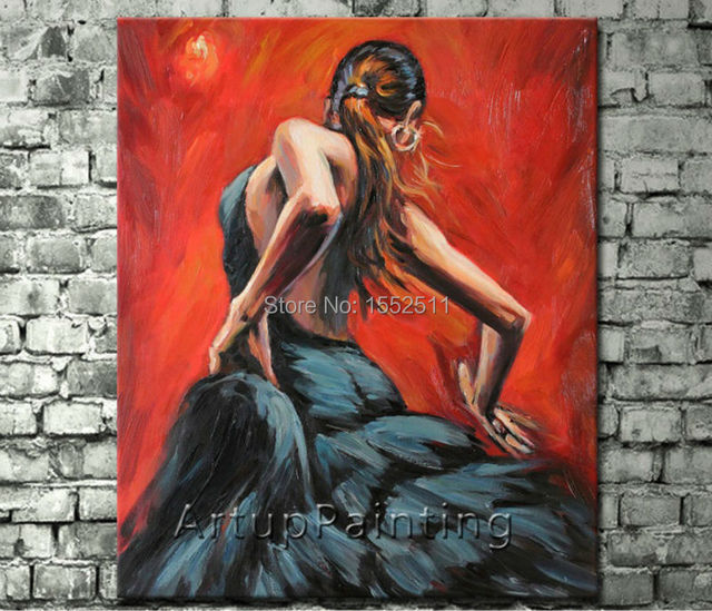 Spanish Flamenco Dancer painting latina woman Oil painting on canvas hight Quality Hand-painted Painting latina 11