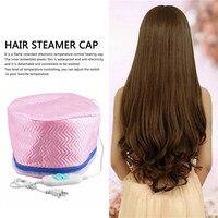 Gorący sprzedawanie 1 sztuk US Plug obróbka termiczna elektryczne włosy piękno parowiec SPA do odżywiania włosów pielęgnacja Cap Style Maker w Elektryczne czepki do włosów od AGD na