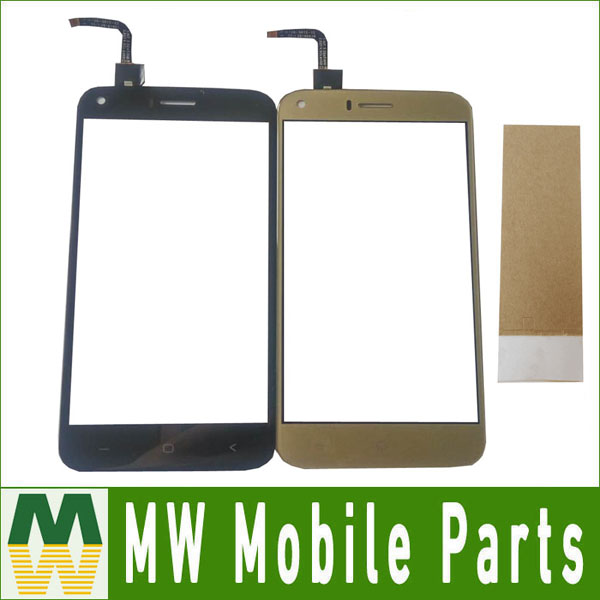 1PC/Lot For Bravis A506 Crystal Touch Screen Digitizer replacement Black White Gold Color With tape