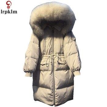 Women Winter Parkas Loose Padded Long Jackets Winter Coat Women Adjustable Waist Outwear Jackets Female 2018 New Clothing Ch769