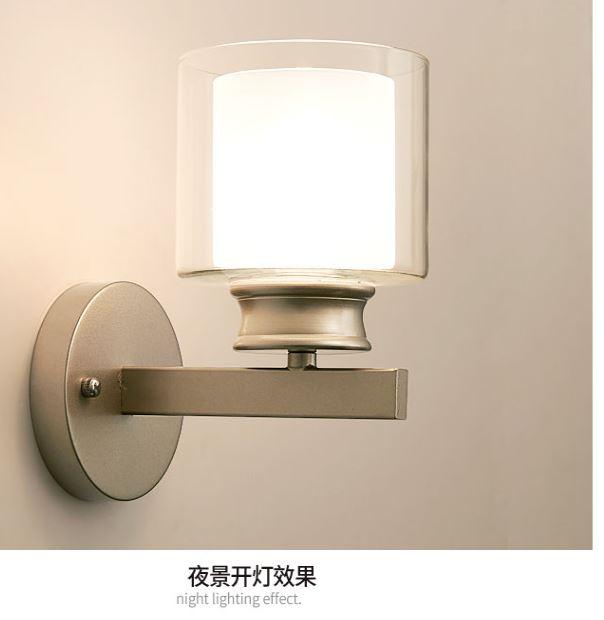 HTB1iftqkScqBKNjSZFgq6x kXXa0 - Bedroom bedside wall lamp modern minimalist living room study LED TV wall lamp glass lampshade aisle lamp atmosphere