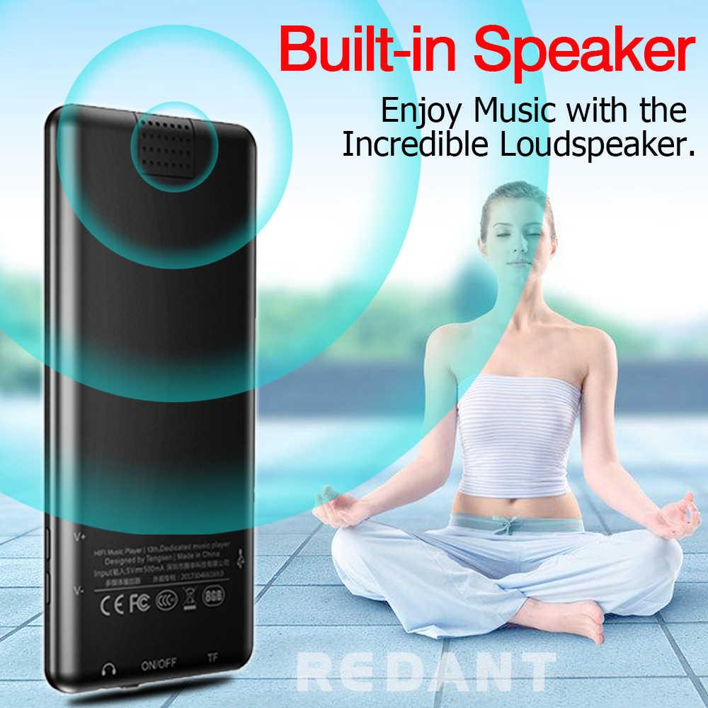 REDANT MP3 プレーヤー bluetooth タッチキーロスレスハイファイスポーツ音楽プレーヤーハイファイ fm ラジオミニ USB ポータブルスリムウォークマン 16 ギガバイト