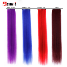 AOSIWIG 1 Piece 1 Clip-in One Piece Hair Extensions  Pure Color Long Straight Synthetic High Temperature Fiber Hair