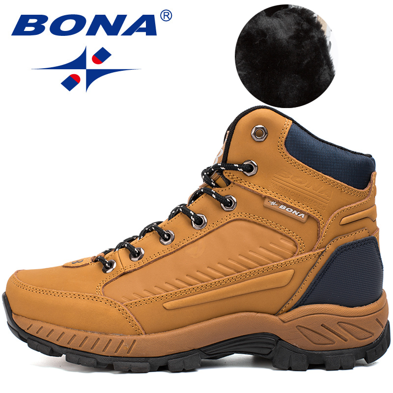 Image 4 - BONA New Popular Style Men Hiking Shoes Outdoor Walkng Jogging Trekking Sneakers Lace Up Climbing Boots For Men Free Shipping-in Hiking Shoes from Sports & Entertainment