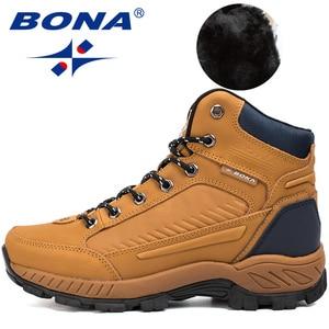 Image 4 - BONA bottes de randonnée pour homme, baskets de Jogging, de marche en extérieur, Style populaire, nouvelle collection à lacets, livraison gratuite