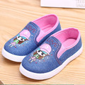 Primavera kids baby girls shoes fashion shoes casual flores lindas estudiantiles transpirable zapato zapatilla de deporte de lona de los niños 2-4 años