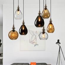 Nordic Light Pendant Dining Room Loft Glass LED Lamp Creative Retro Coffee Bar Decor Lighting HangLamp Luminaire