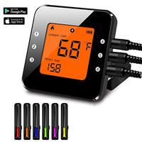 Bluetooth Grill Thermometer with 6 Probe Digital BBQ Thermometer Kitchen oven Steak Baking Android and IOS Search 'Hot BBQ' APP