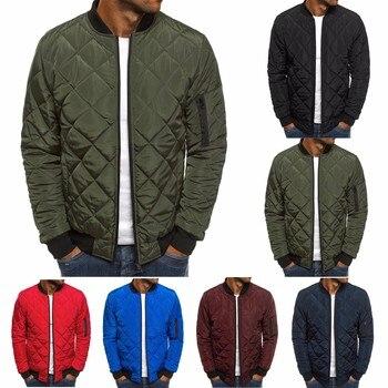 ZOGAA 2019 Men Spring Jacket Wind Breaker Casual Light Plaid Parka Solid Color Brand Overcoat Men Thick Clothes Zipper Jackets 1