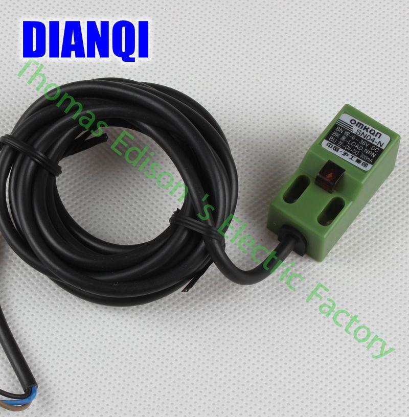 5pcs Inductive Proximity Sensor SN04-N NPN 3WIRE NO Detection distance 4MM DC 6-36V Proximity Switch sensor switch  dhl ems 5 lots new omron inductive proximity switch sensor npn e2e x1c2 e2ex1c2