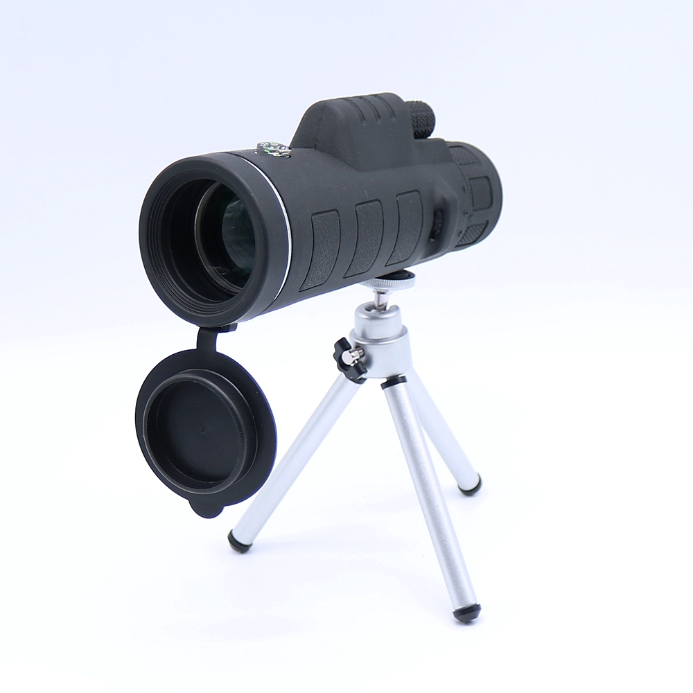40X60 Zoom Optical Lens Monocular Telescope + Clip + Tripod For Mobile Phone 8x zoom optical mobile phone telescope camera white