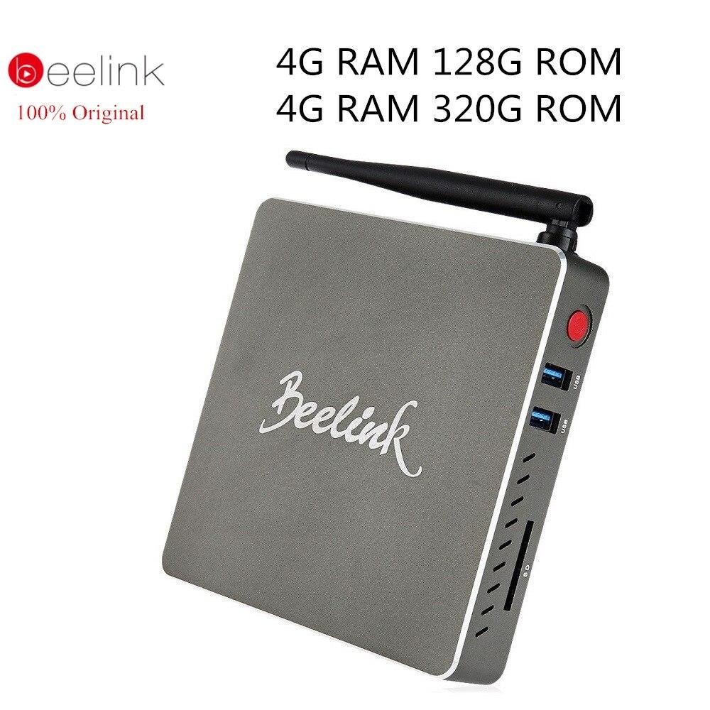 Genuine Beelink BT7 Mini PC Intel Atom X7-Z8700 Quad-core TV BOX Windows 10 Bluetooth 4.0 2.4G/5.8G WiFi 4K Media Player