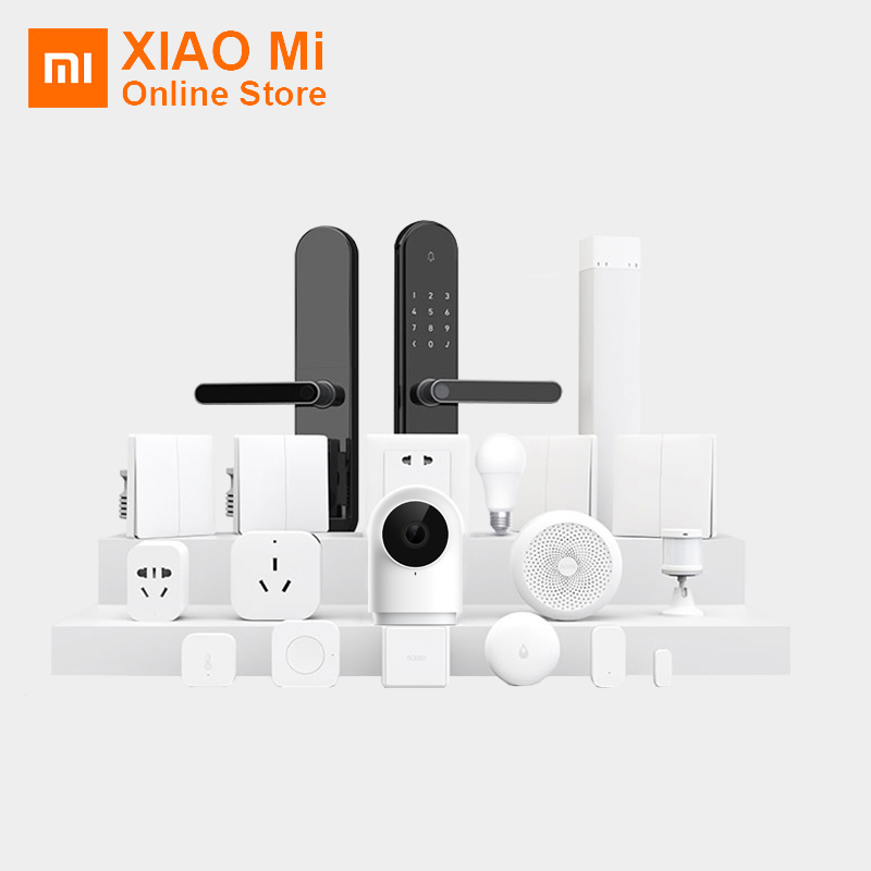 Xiaomi Aqara Hub Smart Home Kits Gateway Window Door Sensor Human Body Wall Wireless Switch Humidity Water Sensor Camera