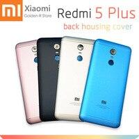 Для Xiaomi Redmi 5 Plus задняя крышка корпус металлическая задняя крышка батареи + ключ для боковой кнопки с объективом камеры запасные части