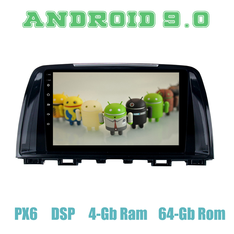 PX6 Android 9.0 Car <font><b>GPS</b></font> Radio Multimedia for <font><b>mazda</b></font> <font><b>6</b></font> Atenza 2013 2014 with IPS DSP 4+64GB Auto Stereo image