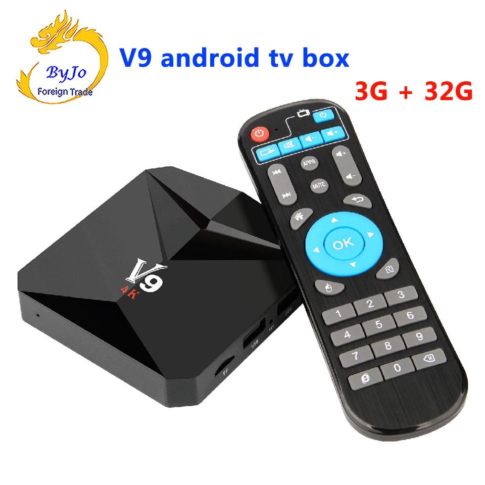 V9 Android 7.1 TV BOX 2G 16G Or 3G 32G Amlogic S912 Octa Core 2.4G WiFi BT4.0 4K 3D H.265 HDR10 Smart Media Player 5pcs mxiii g ii 2g 16g 32g android 6 0 tv box amlogic s912 octa core 2 4g 5g dual wifi 4k h 265 vp10 hdr10 mxiii g set top box