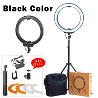 18 55W 5500K LED Selfie Ring Light With Light Stand Photographic Lighting Dimmable Camera Photo Phone