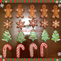 7 pçs/set Muletas do Tema Natal Árvore de Natal Gingerbread Man Sino Luvas Meia Anjo Forma de Cookie Molde de Cozimento Cozinha Ferramenta