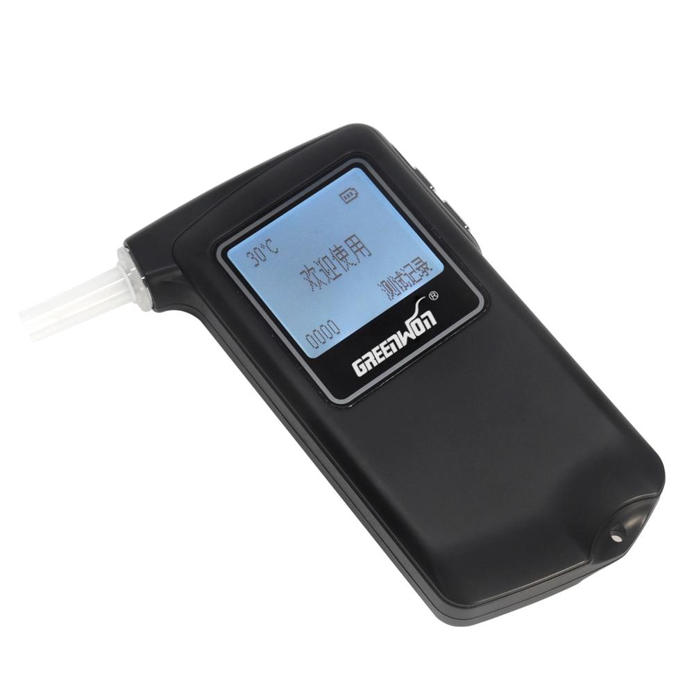 5 pcs/lot nouveau portable Police alcootest analyseur détecteur numérique LCD pile à combustible capteur souffle alcool testeur alcool compteur - 3