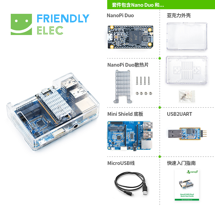Friendly NanoPi Duo Beginner Kit