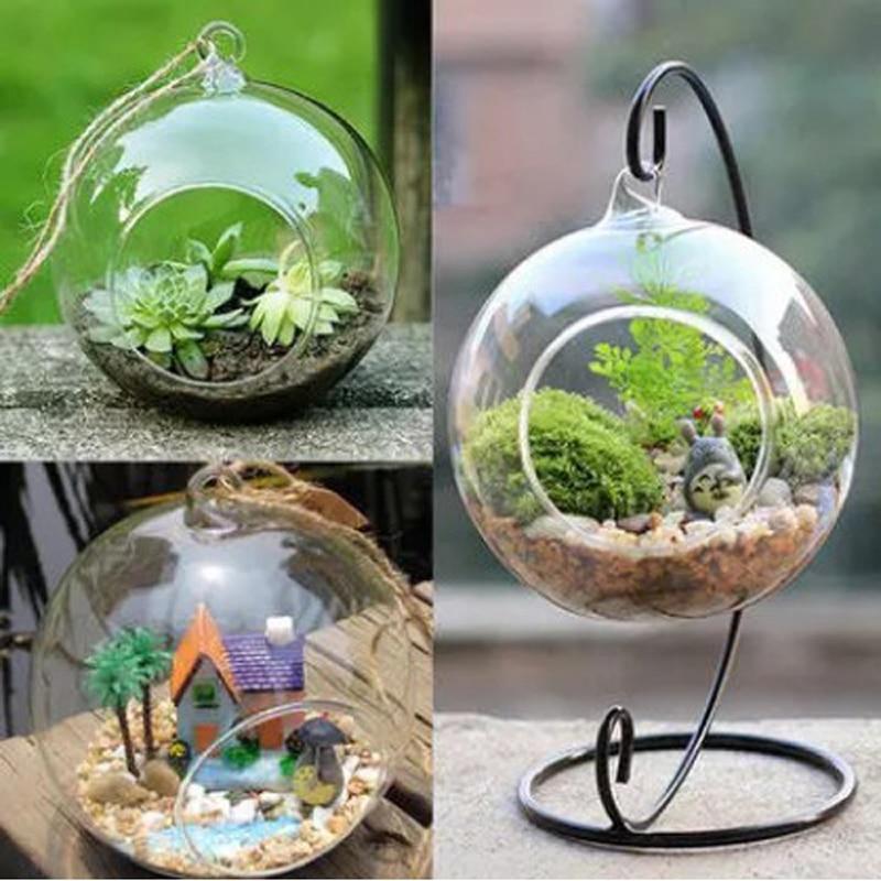 Glass Ball Vase Glass Aquarium Fish Tank Hanging Flower Pot 30cm