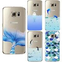 Cute penguin Design Cover Coque For Samsung Galaxy S3 S4 S5 S6 S7 Edge S8 Plus A3 A5 2016 2017 J2 J3 J5 J7 Core Grand Prime Case