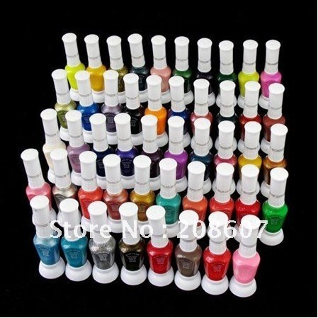 Free Shipping 2011 New 48 Color Nail Art 2-Way Pen Brush Varnish Polish Paint