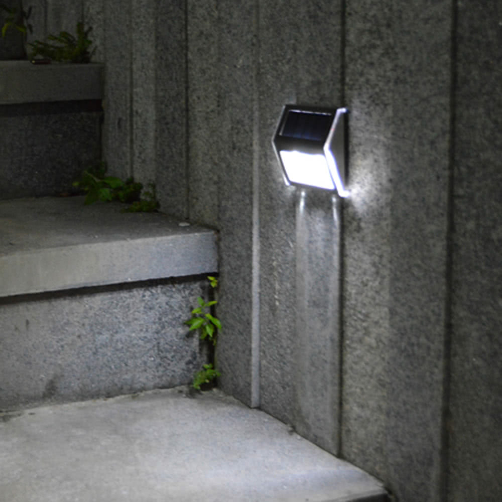 Solar Lights Outdoor 2pcs LEDs PIR Motion Sensor Activated Separable Light for Garden Security Waterproof Wireless Wall Lamp in Solar Lamps from Lights Lighting