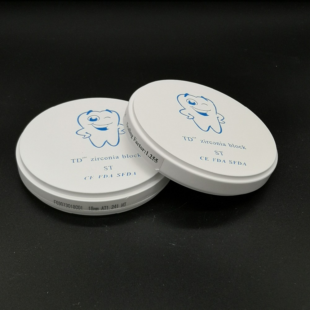 1 Piece OD98*25MM Pre-Shade A1/A2/A3 CAD/CAM Milling System Dental Zirconia Blocks for Porcelain Teeth Zirconium Ceramic1 Piece OD98*25MM Pre-Shade A1/A2/A3 CAD/CAM Milling System Dental Zirconia Blocks for Porcelain Teeth Zirconium Ceramic