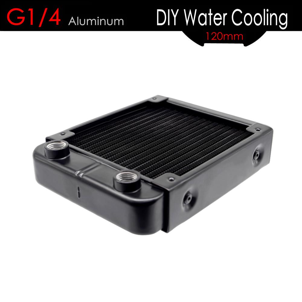 ALSEYE 18 Pipes Water Cooler Radiator 120mm G1/4 Aluminum DIY Water Cooling for CPU Cooler / VGA Cooler Gaming PC Accessories computer cooler radiator with heatsink heatpipe cooling fan for hd6970 hd6950 grahics card vga cooler