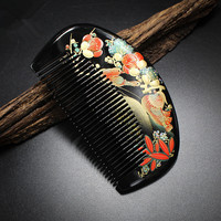 High Quality 1pcs Boxwood Handmade Comb Wood Hair Combs Makeup Head Massager Antistatic Wooden Brush Best
