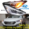 Car Styling Santa Fe IX45 Headlight 2013 2016 Free Ship ITucson IX45 Fog LED 2ps 2pcs