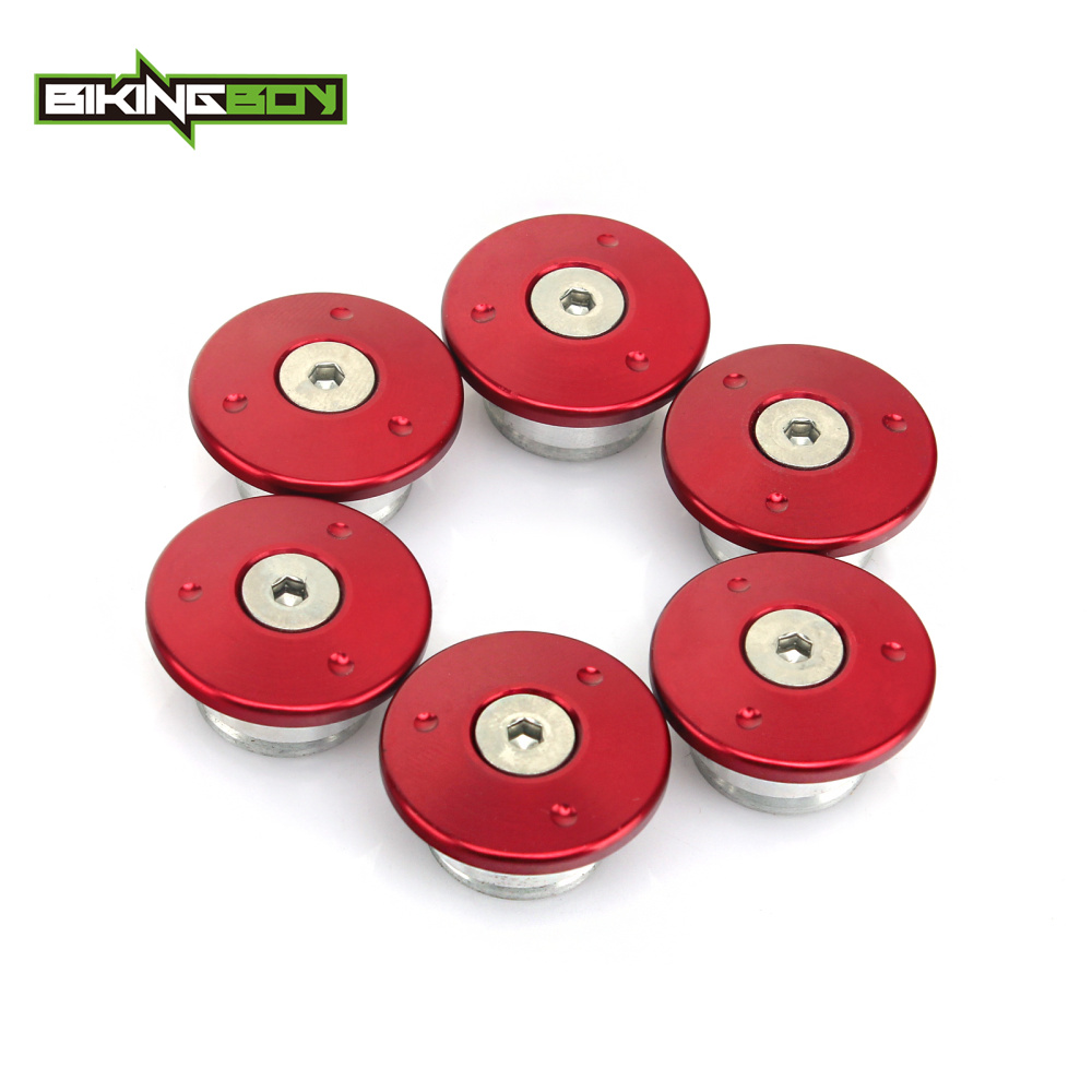 BIKINGBOY 6 pcs Electric Motorcycle CNC Billet Frame Hole Decoration Plugs Cover Caps Set for SOCO All Models motorcycle cnc 6 hole beveled derby cover
