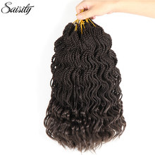 Saisity senegalese twist synthetic braiding hair extensions dreadlocks senegal twist crochet hair 30 strands/pack deep wave ends(China)