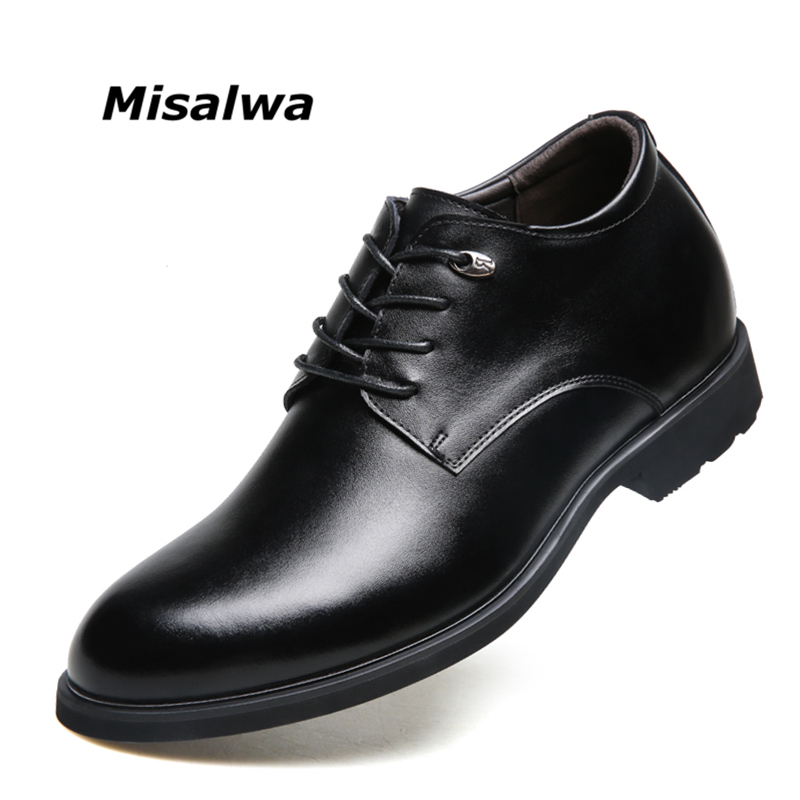 fd819e13ad US $31.3 48% OFF|Misalwa Height Increasing Elevator Shoes New Men Oxfords  Elegant Men Formal Dress Shoes 2019 Bridegroom Shoes-in Formal Shoes from  ...