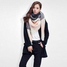Marca Cachecol Mulheres Lenços de Moda Top qualidade Cobertores de Cashmere Macio Cachecol de Inverno quente Xadrez Quadrado Xale 009(China (Mainland))